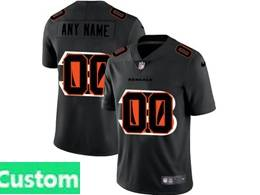 Mens Nfl Cincinnati Bengals Custom Made Black Shadow Logo Vapor Untouchable Limited Jersey
