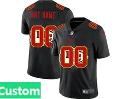 Mens Nfl Kansas City Chiefs Custom Made Black Shadow Logo Vapor Untouchable Limited Jersey