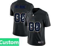 Mens Nfl Los Angeles Rams Custom Made Black Shadow Logo Vapor Untouchable Limited Jersey