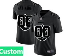 Mens Nfl Oakland Raiders Custom Made Black Shadow Logo Vapor Untouchable Limited Jersey