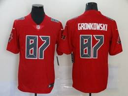 Mens Nfl Tampa Bay Buccaneers #87 Rob Gronkowski Red Color Rush Vapor Untouchable Limited Jersey