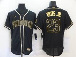 Mens Mlb San Diego Padres #23 Fernando Tatis Jr. Black Flex Base Nike Jersey