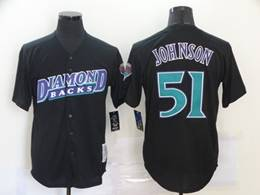 Mens Mlb Majestic Arizona Diamondbacks #51 Randy Johnson Black Cool Base Jersey