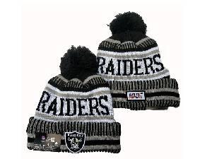 Mens Nfl Oakland Raiders Black&white Raiders Sport Knit Hats