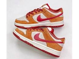 Mens And Women Nike Sb Dunk Low Pro Running Shoes White&orange Color