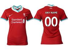 Women 20-21 Soccer Liverpool Club ( Custom Made ) Red Thailand Short Sleeve Jersey