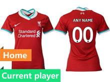 Women 20-21 Soccer Liverpool Club Current Player Red Thailand Short Sleeve Jersey