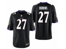 Mens Nfl Baltimore Ravens #27 J.k. Dobbins Black Vapor Untouchable Limited Nike Jersey