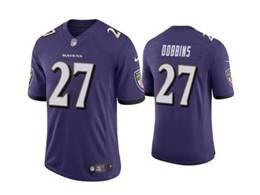 Mens Nfl Baltimore Ravens #27 J.k. Dobbins Purple Vapor Untouchable Limited Nike Jersey