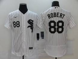 Mens Mlb Chicago White Sox #88 Luis Robert White Stripe Flex Base Nike Jersey
