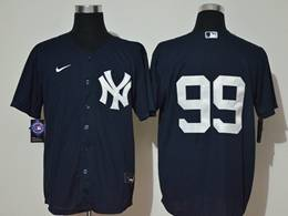 Mens New York Yankees #99 Aaron Judge Navy Blue Cool Base Nike Jersey No Name