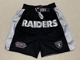 Mens Nfl Oakland Raiders Black Just Don Pocket Shorts