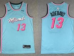 Mens Nba Miami Heat #13 Bam Adebayo Blue 2020 City Edition Nike Swingman Jersey