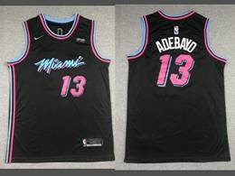 Mens Nba Miami Heat #13 Bam Adebayo Black 2020 City Edition Nike Swingman Jersey
