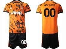 Mens 20-21 Soccer Juventus Club ( Custom Made ) Orange Second Away Short Sleeve Suit Jersey