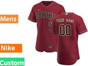 Mlb Arizona Diamondbacks Custom Made Nike 2020 Red Flex Base Jersey