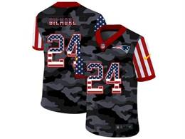 Mens Nfl New England Patriots #24 Stephon Gilmore 2020 Usa Nike Camo Salute To Service Limited Jersey