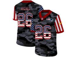 Mens Nfl New England Patriots #26 Sony Michel 2020 Usa Nike Camo Salute To Service Limited Jersey