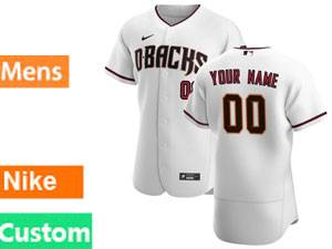Mlb Arizona Diamondbacks Custom Made Nike 2020 White Flex Base Jersey