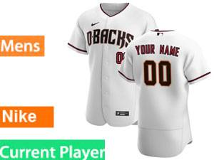 Mlb Arizona Diamondbacks Current Player 2020 Nike Home White Flex Base Jersey