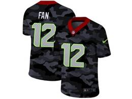 Mens Nfl Seattle Seahawks #12 Fan 2020 Nike Camo Salute To Service Limited Jersey