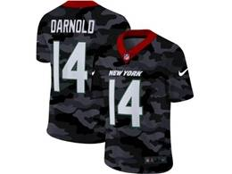 Mens Nfl New York Jets #14 Sam Darnold 2020 Nike Camo Salute To Service Limited Jersey