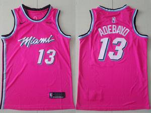 Mens Nba Miami Heat #13 Bam Adebayo Pink 2020 City Edition Nike Swingman Jersey