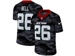 Mens Nfl New York Jets #26 Le'veon 2020 Nike Camo Salute To Service Limited Jersey