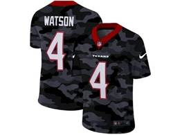 Mens Nfl Houston Texans #4 Deshaun Watson 2020 Nike Camo Salute To Service Limited Jersey