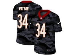 Mens Nfl Chicago Bears #34 Walter Payton 2020 Nike Camo Salute To Service Limited Jersey