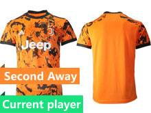 Mens 20-21 Soccer Juventus Club Current Player Orange Second Away Thailand Short Sleeve Jersey
