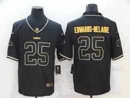 Mens Nfl Kansas City Chiefs #25 Clyde Edwards-helaire Black Golden Vapor Untouchable Limited Nike Jersey