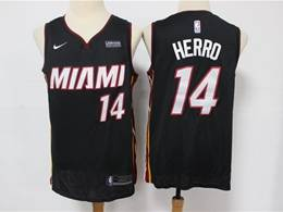 Mens Nba Miami Heat #14 Tyler Herro Black Swingman Nike Jersey