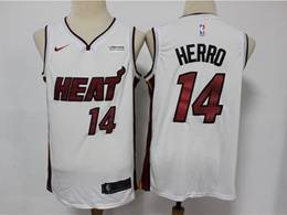Mens Nba Miami Heat #14 Tyler Herro White Swingman Nike Jersey