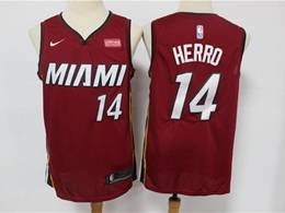 Mens Nba Miami Heat #14 Tyler Herro Red Swingman Nike Jersey