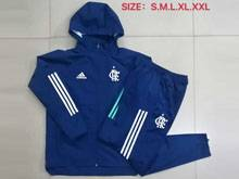 Mens 20-21 Soccer Flamengo Rj Club Dart Blue Jacket And Dark Blue Sweat Pants Training Suit