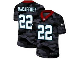 Mens Nfl Carolina Panthers #22 Christian Mccaffrey 2020 Camo Vapor Untouchable Limited Nike Jersey