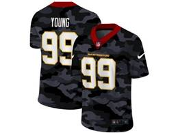 Mens Nfl Washington Redskins #99 Chase Young 2020 Camo Vapor Untouchable Limited Nike Jersey