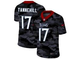 Mens Nfl Tennessee Titans #17 Ryan Tannehill 2020 Camo Vapor Untouchable Limited Nike Jersey