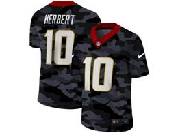 Mens Nfl Los Angeles Chargers #10 Justin Herbert 2020 Nike 2nd Camo Salute To Service Limited Jersey