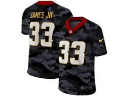 Mens Nfl Los Angeles Chargers #33 Derwin James Jr 2020 Camo Vapor Untouchable Limited Nike Jersey