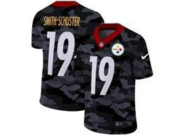Mens Nfl Pittsburgh Steelers #19 Juju Smith-schuster 2020 Nike Camo Salute To Service Limited Jersey