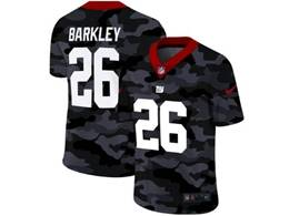 Mens Nfl New York Giants #26 Saquon Barkley 2020 Camo Vapor Untouchable Limited Nike Jersey