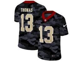 Mens Nfl New Orleans Saints #13 Michael Thomas 2020 Nike Camo Salute To Service Limited Jersey