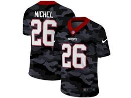 Mens Nfl New England Patriots #26 Sony Michel 2020 Nike Camo Salute To Service Limited Jersey