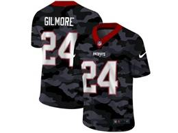 Mens Nfl New England Patriots #24 Stephon Gilmore 2020 Nike Camo Salute To Service Limited Jersey