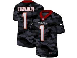 Mens Miami Dolphins #1 Tua Tagovailoa 2020 Nike Camo Salute To Service Limited Jersey