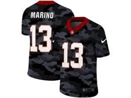 Mens Miami Dolphins #13 Dan Marino 2020 Nike Camo Salute To Service Limited Jersey