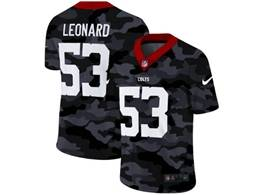 Mens Nfl Indianapolis Colts #53 Darius Leonard 2020 Nike Camo Salute To Service Limited Jersey