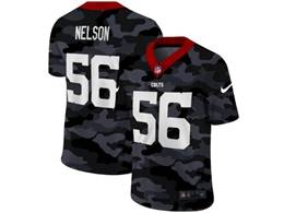 Mens Nfl Indianapolis Colts #56 Quenton Nelson 2020 Camo Vapor Untouchable Limited Nike Jersey
